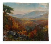 Valley Of The Catawissa In Autumn Fleece Blanket