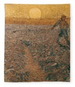 Van Gogh: Sower, 1888 Fleece Blanket