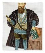 Vasco Da Gama, Portuguese Explorer Fleece Blanket
