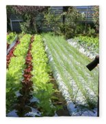 Vegetable Garden  Fleece Blanket