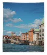 Venice Panorama Fleece Blanket