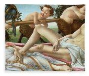 Venus And Mars Fleece Blanket