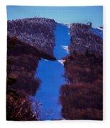 Vermonts Sugarbush Mountain Fleece Blanket