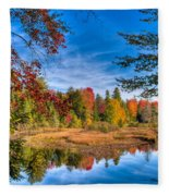 View From The Lock And Dam Trail Fleece Blanket