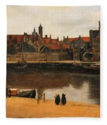 View Of Delft Fleece Blanket