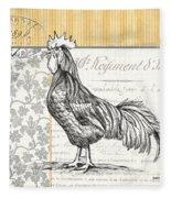 Vintage Farm 1 Fleece Blanket by Debbie DeWitt