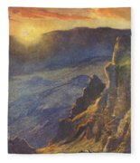 Vintage Hawaiian Art Fleece Blanket