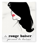 Vintage Paris Fashion Fleece Blanket