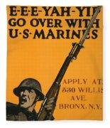 Vintage Recruitment Poster Fleece Blanket
