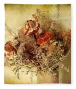 Vintage Still Life Fleece Blanket
