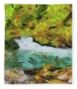 Vintgar Gorge Fleece Blanket