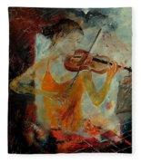 Violinist 67 Fleece Blanket