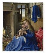 Virgin And Child In An Interior Fleece Blanket