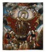 Virgin Of Carmel Saving Souls In Purgatory Fleece Blanket