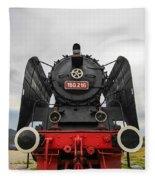 Viseu De Sus Steam Engine Fleece Blanket