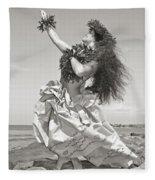 Wahine Hula Fleece Blanket