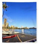Waikiki Hawaii Fleece Blanket