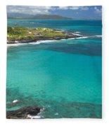 Waimanalo Coast Fleece Blanket