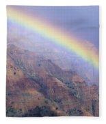 Waimea Canyon Rainbow Fleece Blanket
