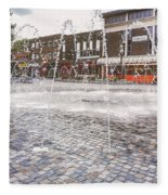 Wakefield City Centre Fountain Fleece Blanket