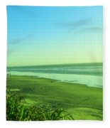 Walking The Beach Fleece Blanket