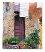 Washing Day Tuscany Fleece Blanket