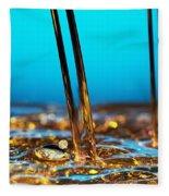 Water And Oil Fleece Blanket