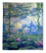 Water Lilies, Nympheas, By Claude Monet,  Musee Marmottan Monet, Fleece Blanket