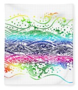 Water Pattern Fleece Blanket