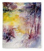 Watercolor 040908 Fleece Blanket