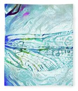 Watercolor Wings Fleece Blanket