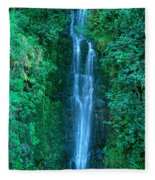 Waterfall Close-up Fleece Blanket