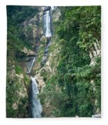 Waterfall Highlands Of Guatemala 1 Fleece Blanket