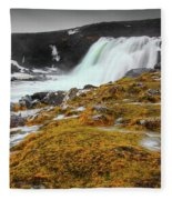 Waterfalls Of Iceland Fleece Blanket