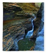 Watkins Glen Gorge Fleece Blanket