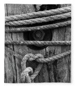 Weathered Rope Fleece Blanket