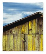 Weathered Wooden Barn, Gaviota, Santa Fleece Blanket