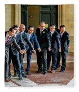Wedding Men Fleece Blanket