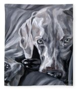 Weimaraner Fleece Blanket