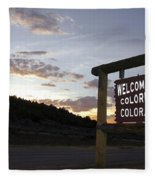 Welcome To Colorful Colorado Fleece Blanket