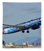 Westjet Boeing 737-8ct C-gwsz Magic Plane Phoenix Sky Harbor January 22 2016 Fleece Blanket