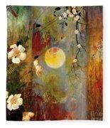 Whisper Forest Moon II Fleece Blanket