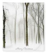 White Christmas Fleece Blanket