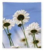 White Daisies Fleece Blanket