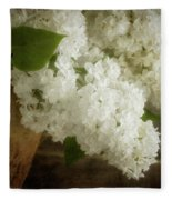 White Lilac Fleece Blanket
