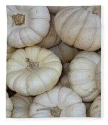 White Pumpkins Fleece Blanket