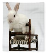 White Rabbit  Fleece Blanket