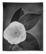 White Rose Fleece Blanket