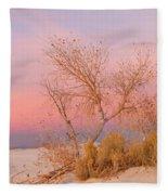 White Sands Sunset 1 Fleece Blanket