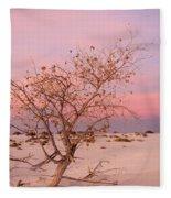 White Sands Sunset 2 Fleece Blanket